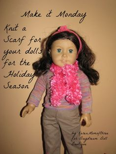 make a doll scarf