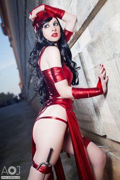 Elektra by ~ivettepuig on deviantART #cosplay