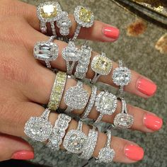 If you wear things you adore, you just look better! #henridaussi #ringstack #weddingband #engagement #instajewelry #engagementring #cushioncut #newitems #amberatsissys #diamondsareagirlsbestfriend #ringbling #sissylogcabin #sparkle #shinebright #diamondjewelry  Henri Daussi Rings available for purchase at Sissy's Log Cabin.   Facebook.com/amberatsissys Instagram.com.amberatsissys