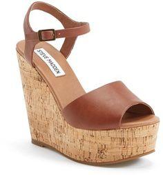 ShopSense, Steve Madden 'Korkey' Ankle Strap Wedge Platform Sandal (Women), $53.56