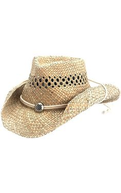 Dorfman Pacific Seagrass Vent Crushable Cowboy Hat 0077c4401c9d