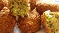 Sajtos cukkinigolyó Baked Potato, Potatoes, Baking, Ethnic Recipes, Food, Bakken, Eten, Bread, Potato