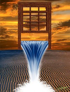 picture of a heavenly window open and water pouring out | preachbrotherbob: An Exceeding And Abundant Blessing