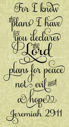 SVG DXF & PNG For I know the plans I have for you declares