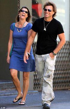 Jon+Bon+Jovi+Biography | Jon Bon Jovi and his wife all smiles despite explosive new book which ...