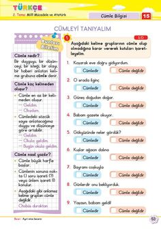 2. Sınıf Soru Bankası Türkçe Süper Kitap Turkish Language, Kids And Parenting, Games For Kids, Homework, Worksheets, Student, Education, Math, Reading
