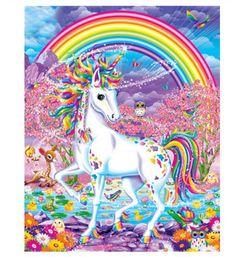 Unicorn And Fairies, Unicorn Fantasy, Unicorn Art, Rainbow Unicorn, Unicorn Painting, Peacock Painting, Diy Painting, Painting Canvas, Bolo Barbie