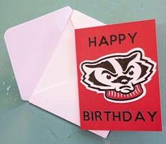 Wisconsin Bucky Badger Birthday Card