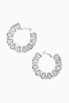 Nov 2013-Crystal Flame Hoop Earrings