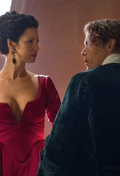 Outlander: Jamie and Claire and the Red Dress