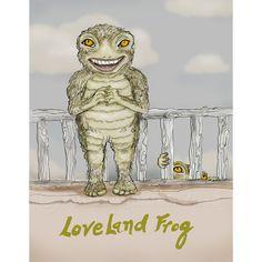 The Loveland Frog Print by FullFrogMoon on Etsy