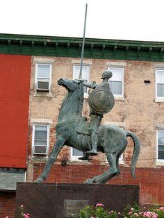 """""""Don Quijote De La Mancha"""", a sculpture by Joaquin Garcia Donaire."""