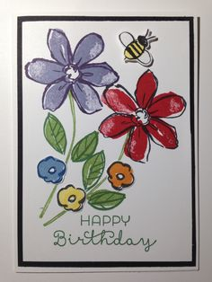 Stampin Up Garden in Bloom card