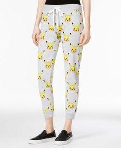 Pokemon Juniors' Pikachu Printed Sweatpants - Gray