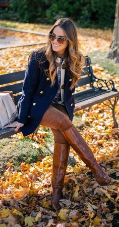 #fall #outfits / riding boots blazer