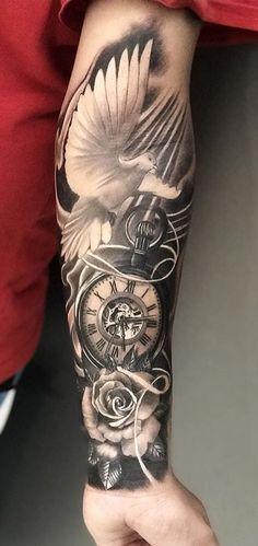 Half Sleeve Tattoos Forearm, Half Sleeve Tattoos For Guys, Forarm Tattoos, Half Sleeve Tattoos Designs, Hand Tattoos For Guys, Cool Forearm Tattoos, Best Sleeve Tattoos, Tattoo Designs Men, Inner Bicep Tattoo