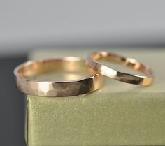 Hey, I found this really awesome Etsy listing at https://www.etsy.com/listing/152922852/rose-gold-wedding-band-set-25mm-and-4mm