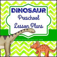 Dinosaur Theme Preschool Lesson Plans Cover Blog