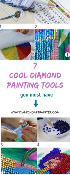 The diamond painting experience is not complete without these awesome tools that will make you feel like a pro diamond painter. Whether you're a beginner or a master in the art, these tools will definitely up your mosaic game: Painting Tools, Dot Painting, Diamond Art, Diamond Doodle, Diamond Rings, Diamond Picture, Painting Accessories, 5d Diamond Painting, Fun Crafts For Kids