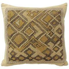 Vintage African Raffia Velvet Pillow