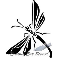 C Bugs 0002 Dragonfly Glass Etching Glass Etching Stencils Etching