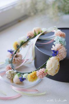 【キッズ/ベビー】カラフルイエローラナンキュラスころりん 花冠 | Online store – ミルラシュエット