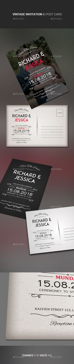 Wedding Invitation & Post Card Template #design Download: http://graphicriver.net/item/wedding-invitation-post-card/11477326?ref=ksioks