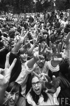 In August of 1969 - More than 500,000 people attended Woodstock Music Festival in upstate New York. Despite many logistical problems over the course of the 3 days, being grossly under-prepared for the number of attendees, and a torrential thunderstorm, the free festival is hailed by many as the pinnacle positive moment of the 1960s cultural era.