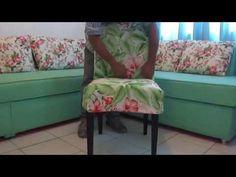 ▶ TAPEÇARIA LCDECORAÇÕES, capa de cadeira tecido jakar estampado - YouTube