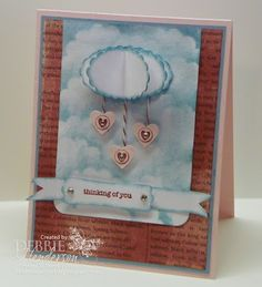 Clouds, clouds and punch clouds. Stampin' Up! products by Debbie Henderson, Debbie's Designs.