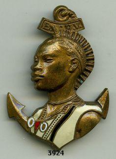 Badge colonial troops, BA. / HIGH - VOLTA