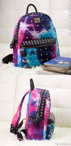5cf94841d Vintage Rivet Galaxy Backpack Harajuku Style School Bags Backpacks only  $45.99 -ByGoods.com