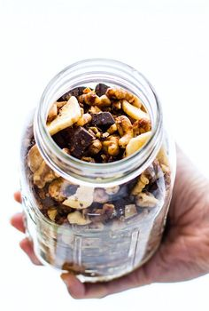Crock Pot Chunky Monkey Paleo Trail Mix! A healthy gluten free trail mix recipe that will definitely give you energy. | CotterCrunch.com