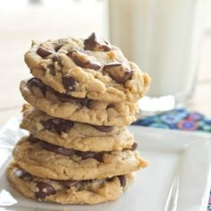 Soft and Chewy Peanut Butter Cookies with Chocolate Chips and Peanut Butter Cups
