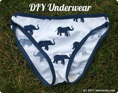 DIY Undies Tutorial by Sew Can Do.  Recycle an fave t-shirt or fabric scraps into one-of-a-kind underwear!