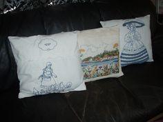 Puter av gamle broderier Diaper Bag, Throw Pillows, Bags, Handbags, Toss Pillows, Cushions, Diaper Bags, Mothers Bag, Decorative Pillows