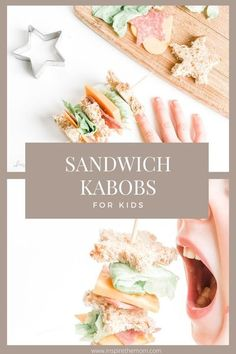 Sandwich Kabobs-A Fun Lunch Idea for Kids! #sandwich #kabob #kabobs #for #kids #easy #lunch #idea #activity #food #children #homeschool #home #school #ideas #craft #fun Healthy Treats For Kids, Healthy Snacks, Healthy Recipes, Veggie Cheese, Ham And Cheese, Cheese Cubes, Stuffed Banana Peppers, Homemade Breakfast, Honey Mustard