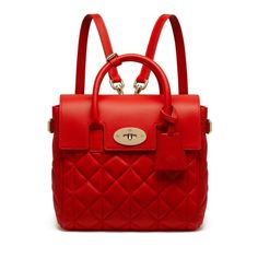 Mulberry Mini Cara Delevingne Bag (€1.235) ❤ liked on Polyvore featuring bags, handbags, fiery spritz, mini bag, red heart purse, miniature purse, tattoo purse and red handbags