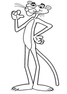 Pink Panther Coloring Pages: Here is a small collection of Pink Panther coloring sheet in different moods and poses. The collection also includes some characters from this series.