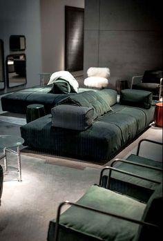 Sectional modular fabric sofa PANAMA BOLD - BAXTER