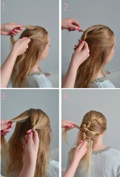 knotted bridal hairstyle tutorial