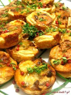 Mini Onion Quiche  #ricette #food #recipes