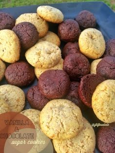 Ripped Recipes - Vanilla & Chocolate Sugar Cookies - clean, gluten-free, grain-free, egg-free, dairy-free healthy sugar cookies!!!