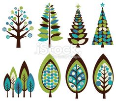 Funky Retro Christmas Trees