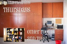 Pulling Curls: Weekly Cleaning: Thursdays -- other Rooms and toys