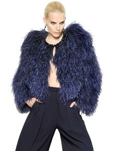 8468cd3b8b0 GIVENCHY - JEWELLED OSTRICH FEATHER FUR JACKET - LUISAVIAROMA - LUXURY  SHOPPING WORLDWIDE SHIPPING - FLORENCE