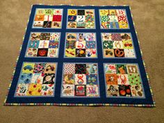 I-Spy Quilt, Child's Quilt, Educational Quilt, Counting Quilt, Baby Gift