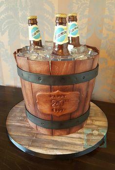 Beer Bucket Barell Cake 21st Birthday Keris Kreations