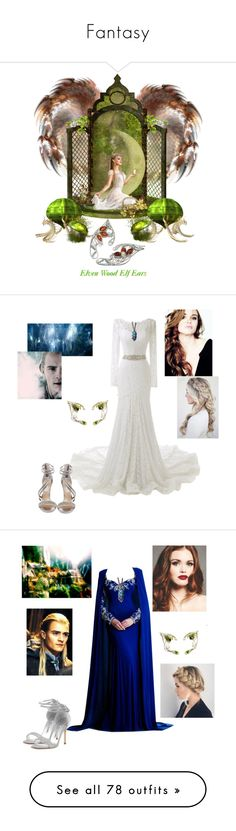 """""""Fantasy"""" by lyriel-moonshadow ❤ liked on Polyvore featuring Steve Madden, Greenleaf, Johnathan Kayne, Manolo Blahnik, WithChic, Dsquared2, WALL, modern, Giuseppe Zanotti and Marc Jacobs"""