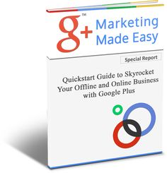 FREE training on how to use Google+ to market your online business, generating leads and converting sales using the excellent tools that G+ provide.
